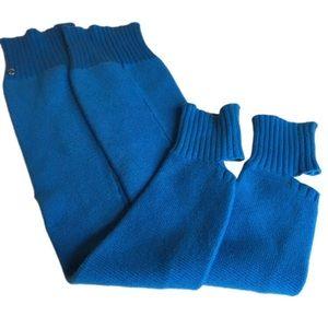 Lululemon Athletica blue leg warmers EUC